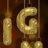 miniature Boule de Noël en lettre d'or
