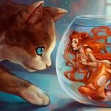 miniature Chat sirène