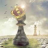 miniature Le Roi des échecs