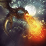 miniature Dragon cracheur de feu