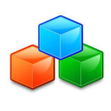 miniature Icône archive avec des cubes