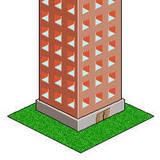 miniature Immeuble en pixel art
