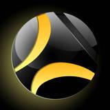 miniature Logo dark glossy