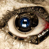 miniature Oeil steampunk