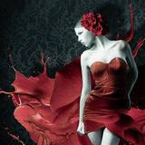 miniature Rose et splashs