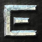 miniature Texte en acier