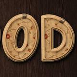 miniature Texte en bois décoré