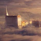 miniature Ville dans les nuages