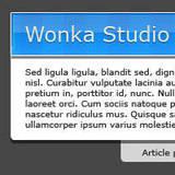miniature Webdesign d'un bloc div