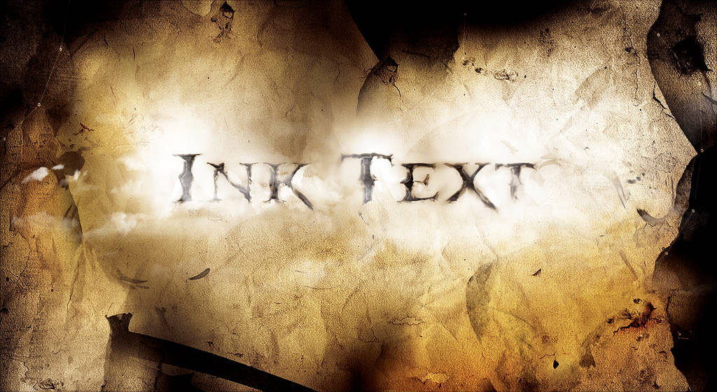 Texte effacé sur un parchemin