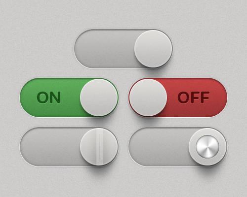 Bouton switch on/off avec Photoshop