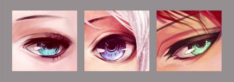 Différentes formes d'oeil