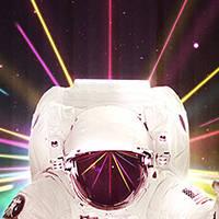 Dessiner un astronaute rétro