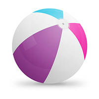 Dessiner un ballon de plage