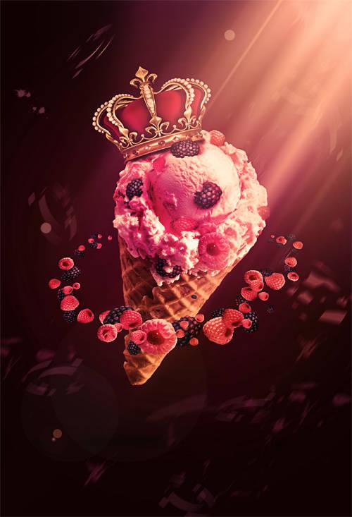 Cornet de glace royale