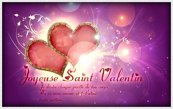 Carte de voeux pour la Saint Valentin