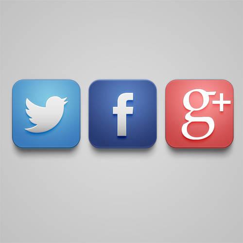 Créer icône Facebook, Twitter et Google