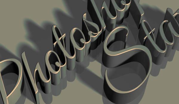 Texte 3D vintage
