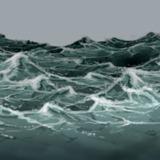miniature Tempête en mer