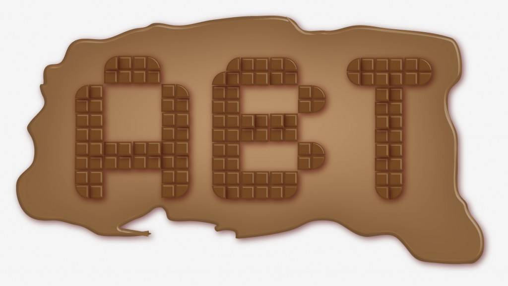 Lettres en chocolat