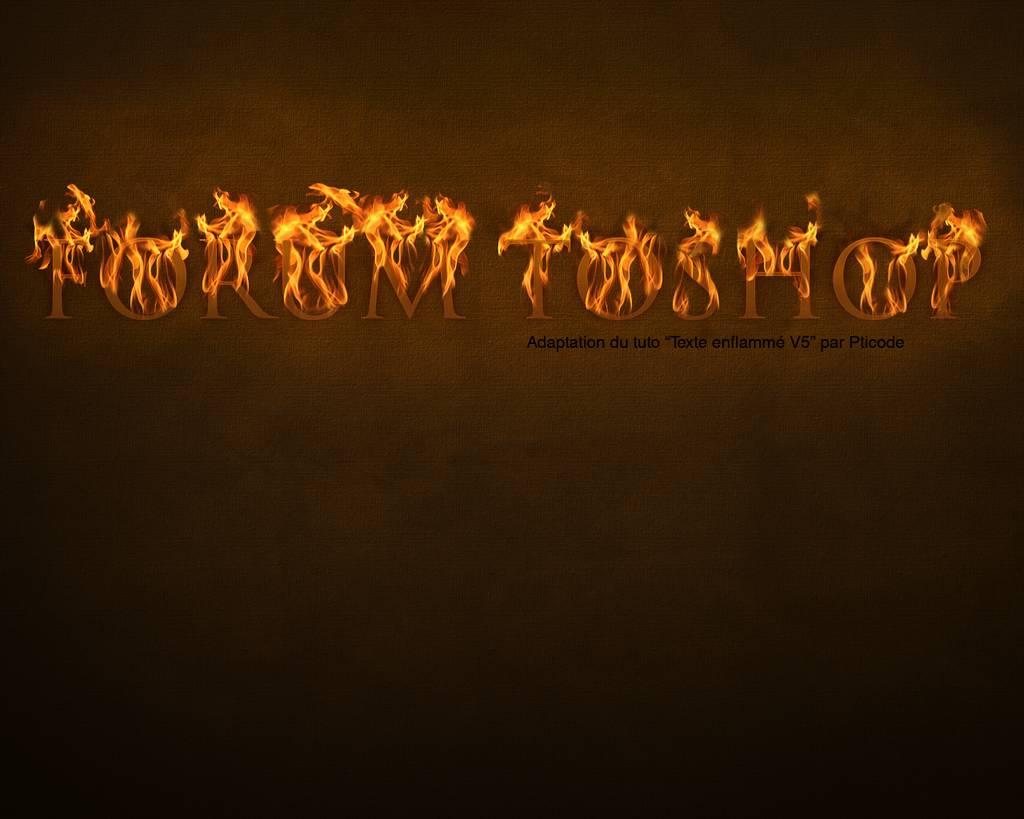 Texte enflammé