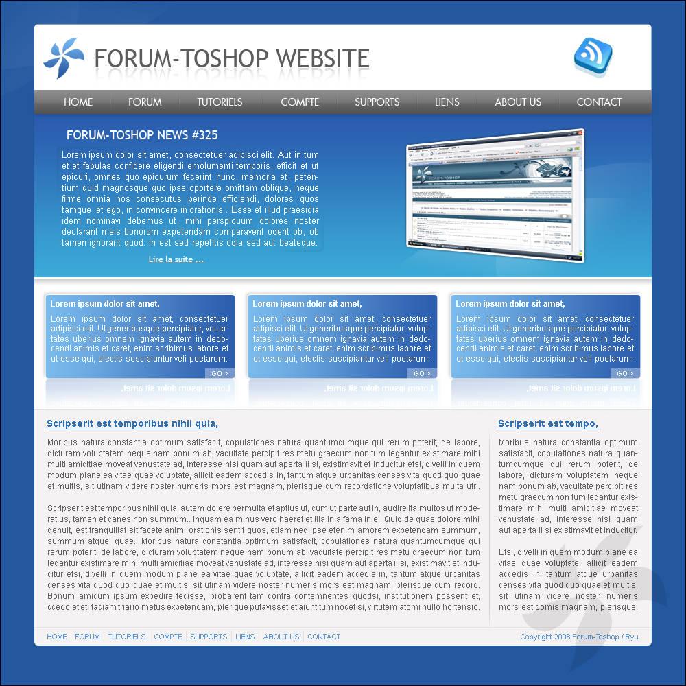 Webdesign bleu