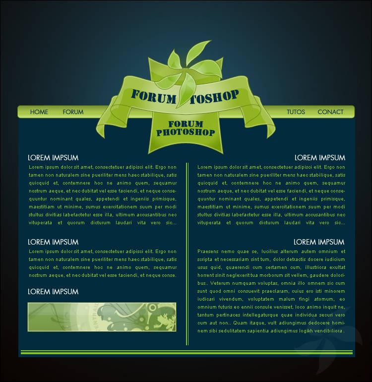 Webdesign fleur verte