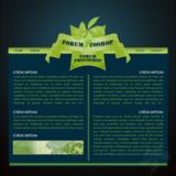 miniature Webdesign fleur verte