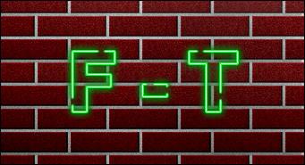 Texte néon sur un mur