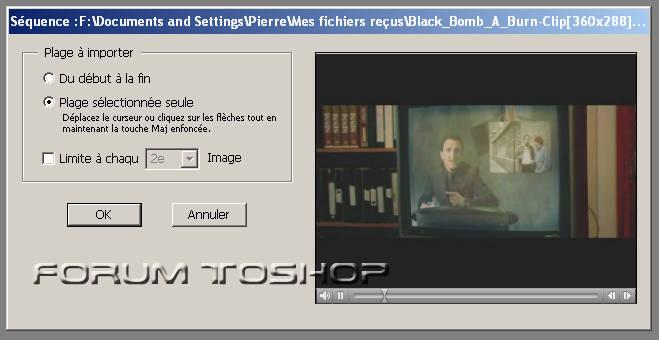 Transformer une vidéo en GIF animé