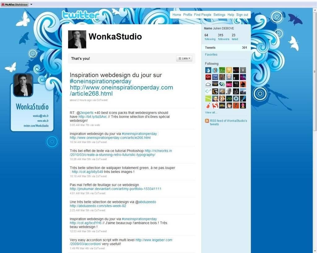 Fond d'écran Twitter