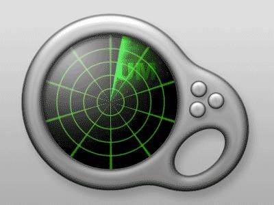 Icône de radar animé