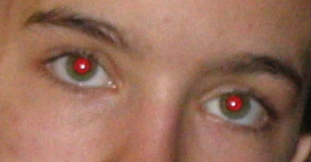 Enlever les yeux rouges