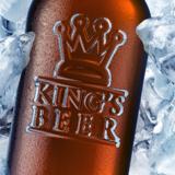 miniature Bouteille de bière dans la glace
