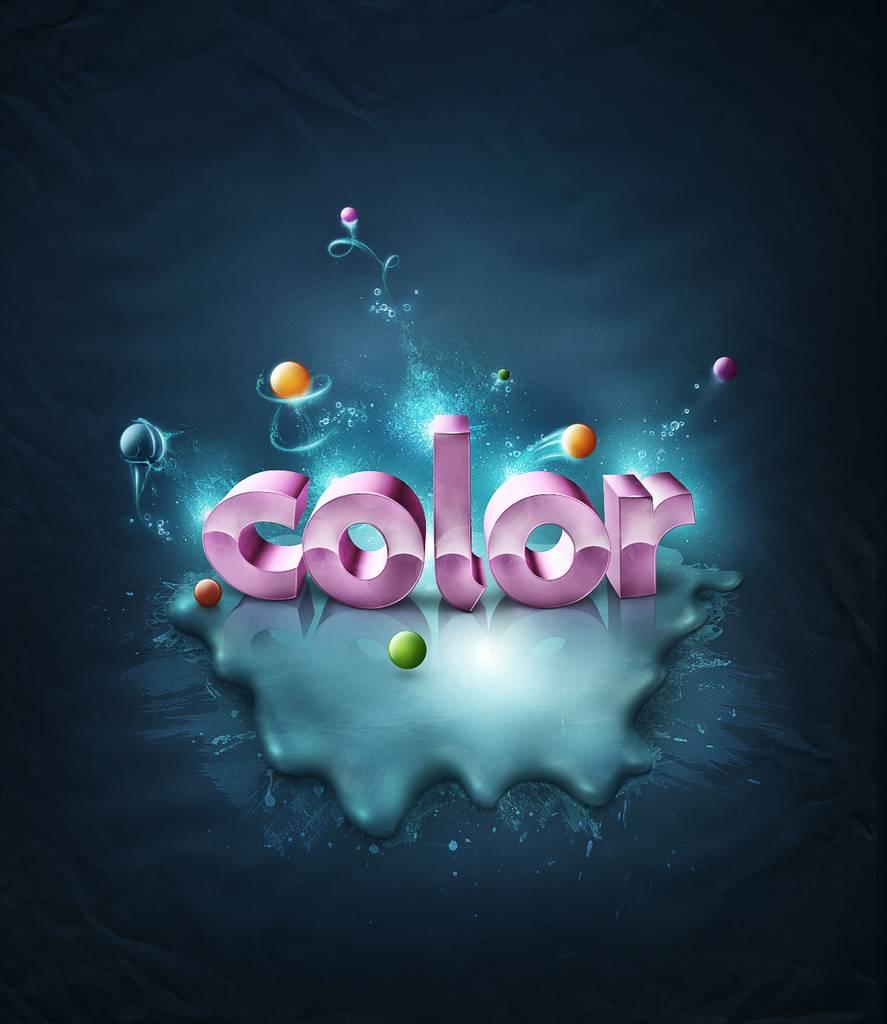 Texte 3D riche en couleurs