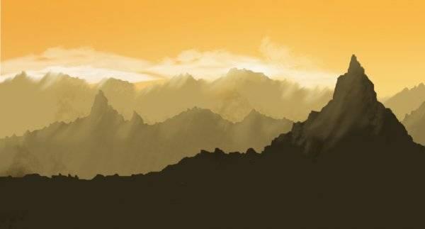 Dessiner un paysage montagneux
