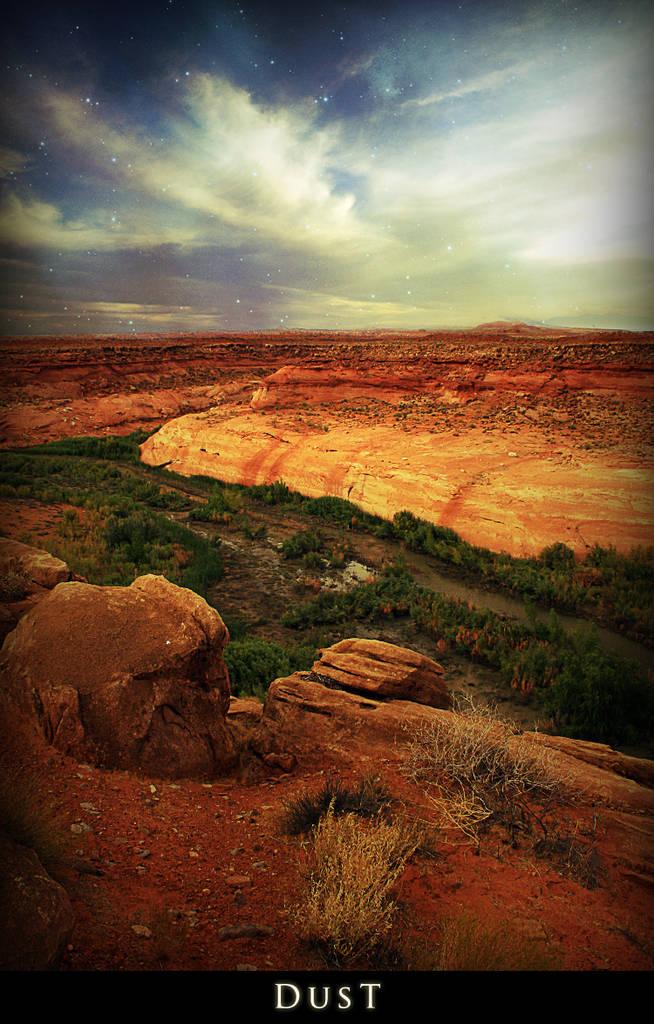 Paysage de désert surréaliste