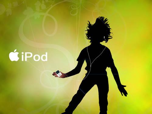 Effet pub iPod 2008