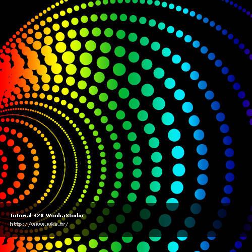 Effet disco multicolore