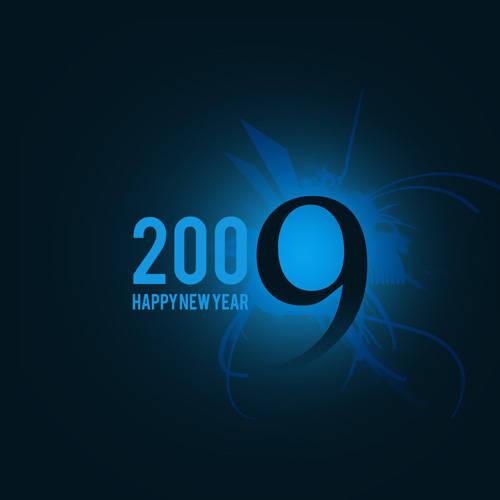 Carte nouvelle année 2009