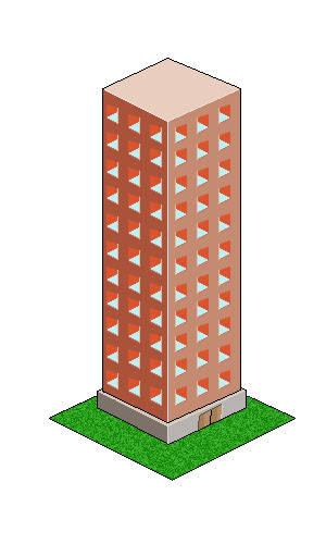 Immeuble en pixel art