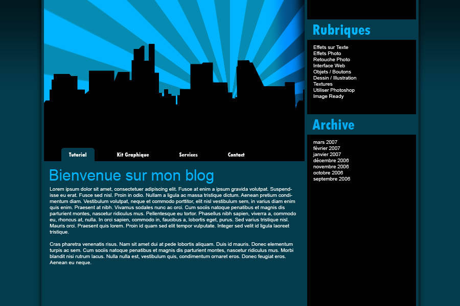 "Webdesign ""City Blue"""