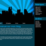 "miniature Webdesign ""City Blue"""
