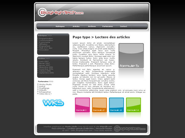Kit graphique Blog High Tech