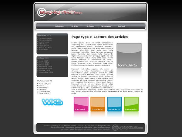 Kit graphique Blog High Tech