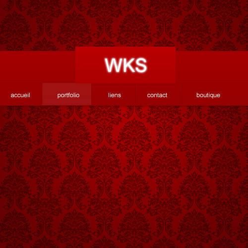 Webdesign rouge à motif