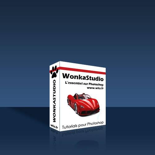 Boîte de logiciel en 3D