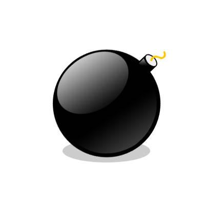 Icône bombe ronde