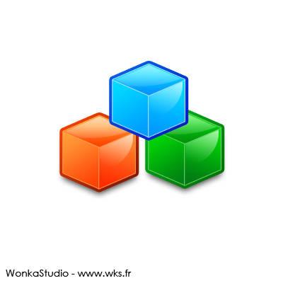 Icône archive avec des cubes