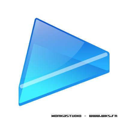 Icône de lecture avec une flèche en 3D